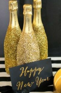 decoration-bouteilles-dore