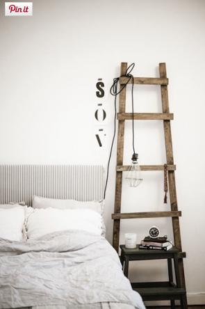 échelle bois chambre