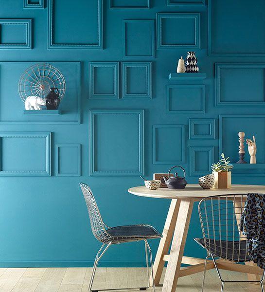 Couloir Peinture Bleu