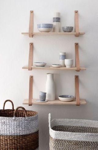 etagere bois et cuir