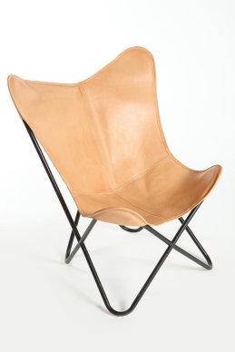 fauteuil papillon cuir
